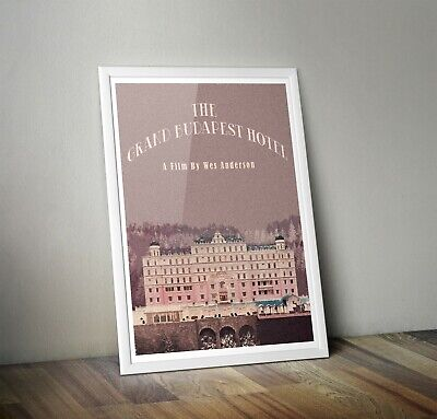 The Grand Budapest Hotel Inspired Retro Movie Print Wes Anderson Art A5  A4 A3