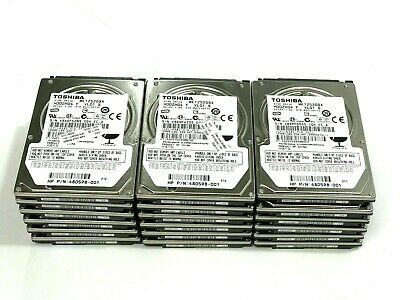 "Lot of 6 - Toshiba 120GB SATA 2.5"" Internal Hard Drive MK1252GSX  HDD2H04"