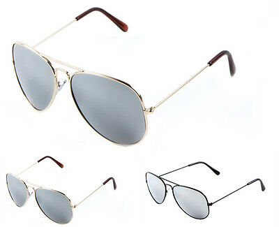 Wholesale Lots 12 Pairs Metal Aviator Sunglasses with Mirror Lens