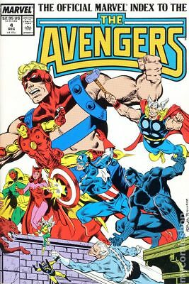 Official Marvel Index to the Avengers #4 1987 VF Stock Image
