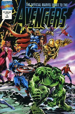 Official Marvel Index to the Avengers #1 1994 FN Stock Image
