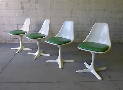 Mid Century Modern Dining Chairs by Burke, Set/4