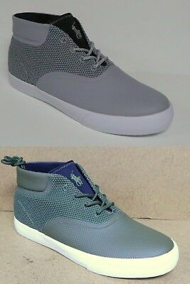 POLO RALPH LAUREN VADIK MEN'S MESH CHUKKA SNEAKERS SHOES GREY or GREEN NEW
