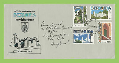 Bermuda 1985 Architecture set on First Day Cover