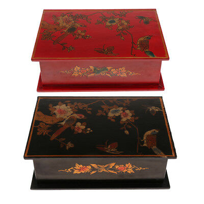 Hand Made Wooden Antique Vintage Jewelry Box Storage Case for Wedding Gifts