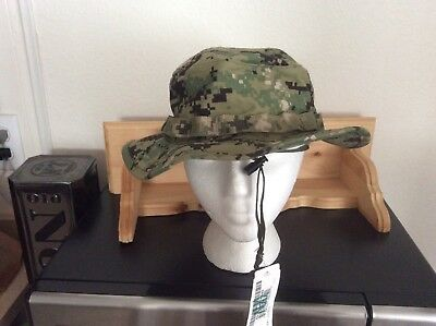 US Navy Nwu Type iii AOR2 Green Digital Boonie Hat Size Large New With Tag