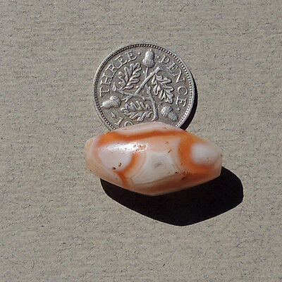 a lovely ancient agate african stone bead mali #713