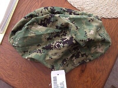US Navy Nwu Type iii AOR2 Green Digital Helmet Cover Size L/XL New With Tag