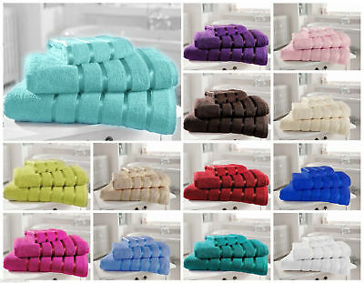 Towels all sizes 100% Egyptian Cotton Satin Stripe  500GSM Top Quality