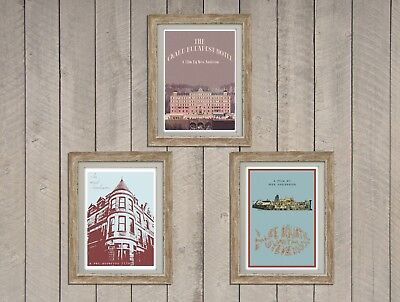 Wes Anderson Inspired Tripple Print Set Retro Movie Posters/ Prints set of 3