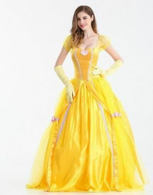 Belle Cosplay Costume Beauty And The Beast Adult Princess Fancy