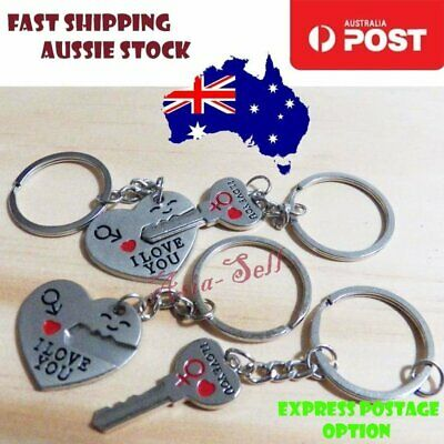 Valentines Day Gift Heart Key Ring I Love You Couples Key Chain Ring Keyring