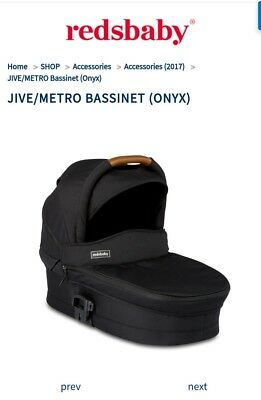 REDSBABY Jive or Metro bassinet in Onyx/Sable