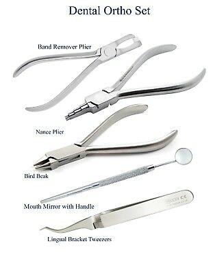 Dental ORTHODONTICS Band Remover Plier Bird Beak Nance Loop Pliers Ortho Set CE