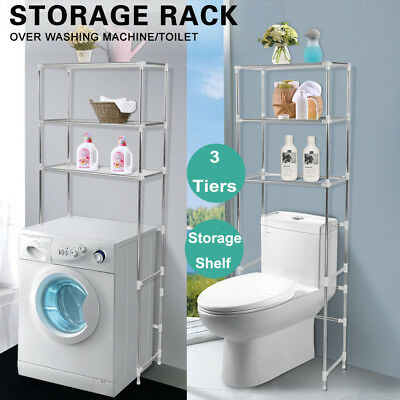 3 SHELF Over Toilet/Bathroom/Kitchen Storage Rack Cabinet Space ...