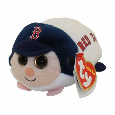 """Ty Beanie Boos 4"""" Teeny Tys MLB BOSTON RED SOX Stackable Plush w/ Heart Tag 2018"""