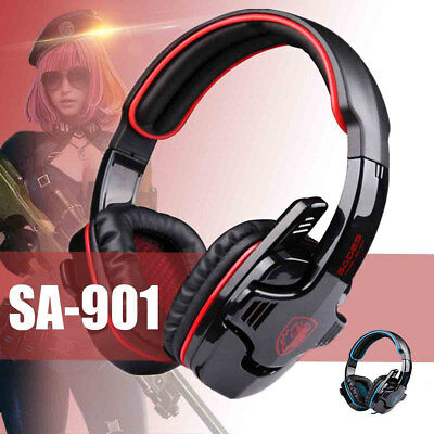 7.1 Gaming Headset  Stereo Surround Mic Headband Headphone for PC PS4 Xbox One