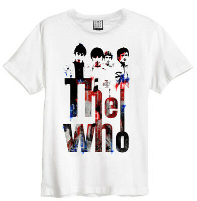 The Who 'Graffiti' (White) T-Shirt - Amplified Clothing - NEW & OFFICIAL!