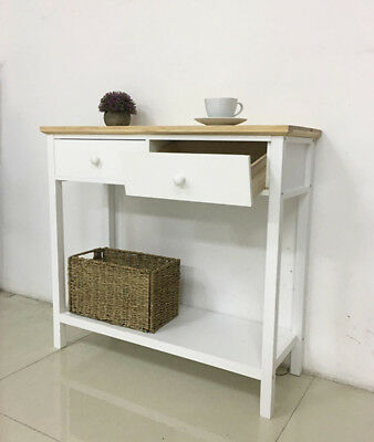 Solid Wood Console Table Stunning Kitchen Hall 2 3 Drawers Bottom Shelf