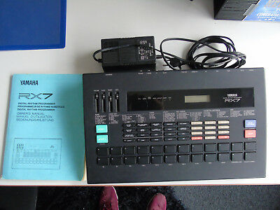 Yamaha RX7 - Digital Drum Rhythm Progr. Synthesizer - mit Bedienungsanleitung !!