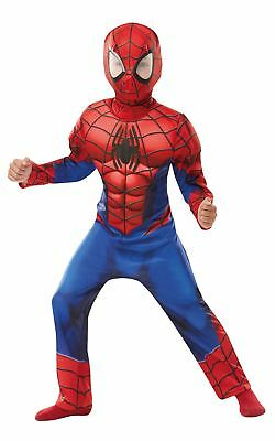 Boys Deluxe Spiderman Costume Super Hero Fancy Dress Child Outfit