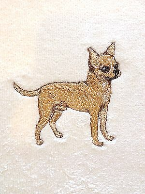 Chihuahua, Hand Towel, Embroidered, Custom, Personalized, Dog, Smooth Chihuahua