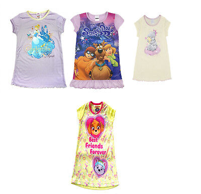 Girls Nightie Pyjamas Paw Patrol Tatty Teddy Scooby Doo & Cinderella