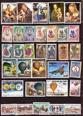 HAUTE VOLTA paintings of the nativity,balloons montgolfiers,animals,various 229D