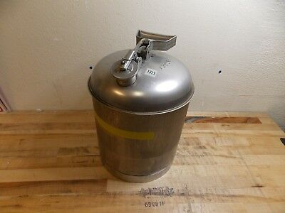 """Eagle Stainless Steel Safety Can 5 Gallon Cap. 15-7/8"""" x 11-1/4"""" Model #1315"""