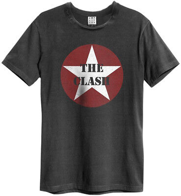The Clash 'Star Logo' (Charcoal) T-Shirt - Amplified Clothing - NEW & OFFICIAL!