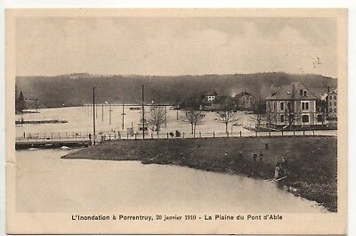 SUISSE SWITZERLAND Canton du JURA PORRENTRUY pruntrut inondations 1910 plaine