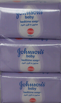 6 x Johnson's Baby Bedtime Soap - 125g - Clinically Mildness Proven 6 x 125g