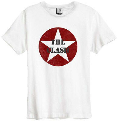 The Clash 'Star Logo' (White) T-Shirt - Amplified Clothing - NEW & OFFICIAL!