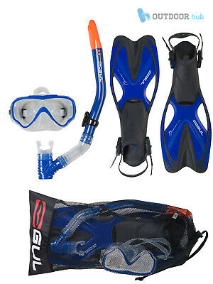 Gul Tarpon 3 Piece Kids Snorkelling Set Silicon Mask Flippers & Fins Child Kids