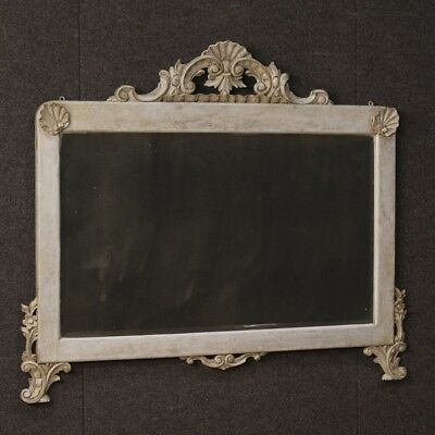 Mirror italian painted furniture wooden mirror frame antique style 900
