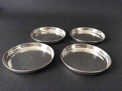 "3"" Antique Solid Sterling Silver Birks Coasters  / 104g"