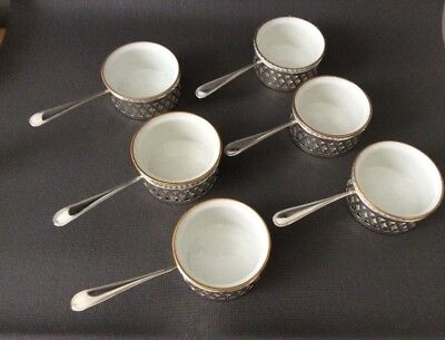 6 Sterling Silver Ramekin Dishes / Baking Cups / Dish / Pilivite France / 222g