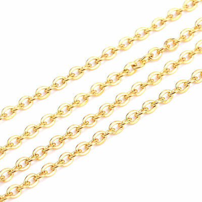 "BULK 10 Stainless Steel Necklaces 20"" - Fine Gold Plated Chain - N390"