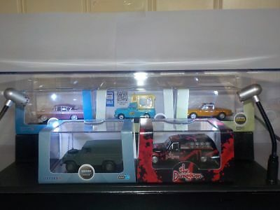 Display Case & Lights, Suitable for Oxford Diecast Models