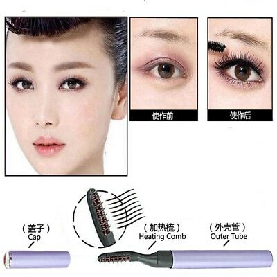 Portable Long Lasting Makeup Electric Heated Curving Eye Lashes Eyelash Curlers