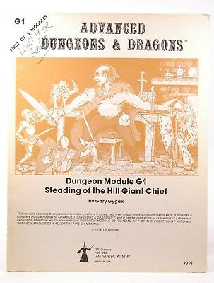Dungeons and Dragons Advanced Dungeon Module 1 (Steading of the Hill Giant Chief