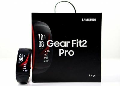 New Samsung Gear Fit2 Fit 2 Pro Fitness Watch Smartwatch Bluetooth GPS Black Red