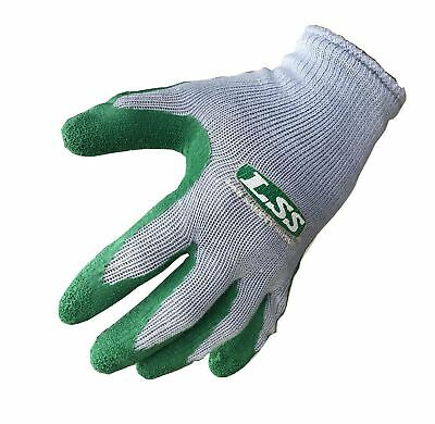 12 PAIRS Textured Rubber Latex Coated HEAVY DUTY Work Gloves Size LARGE