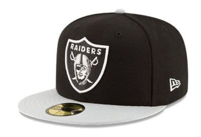 KIDS Oakland Raiders Cap New Era 5950 Fitted Hat NFL Football