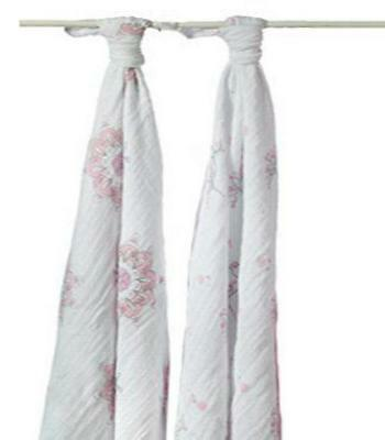 aden + anais Classic Swaddle, 2 Pack (For The Birds Owl+Medallions) Free Shippin