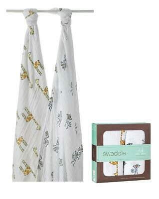 aden + anais Classic Swaddle, 2 Pack (Jungle Jam Monkey/Giraffe) Free Shipping!