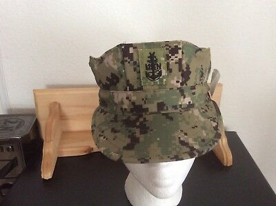 US Navy Nwu Type iii AOR2 8 Point Hat With Senior Chief Rank New With Tag