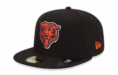 KIDS Chicago Bears Cap New Era 5950 Fitted Hat NFL League Basic Football Black