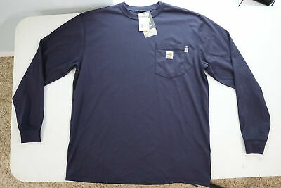 Carhartt Flame Resistant FR Force Cotton Long Sleeve Pocket T-Shirt Mens 2112