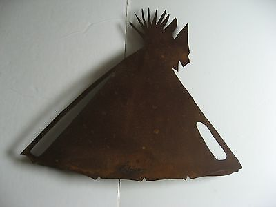Teepee Metal Rust Color Southwestern Wall Art By Rijline